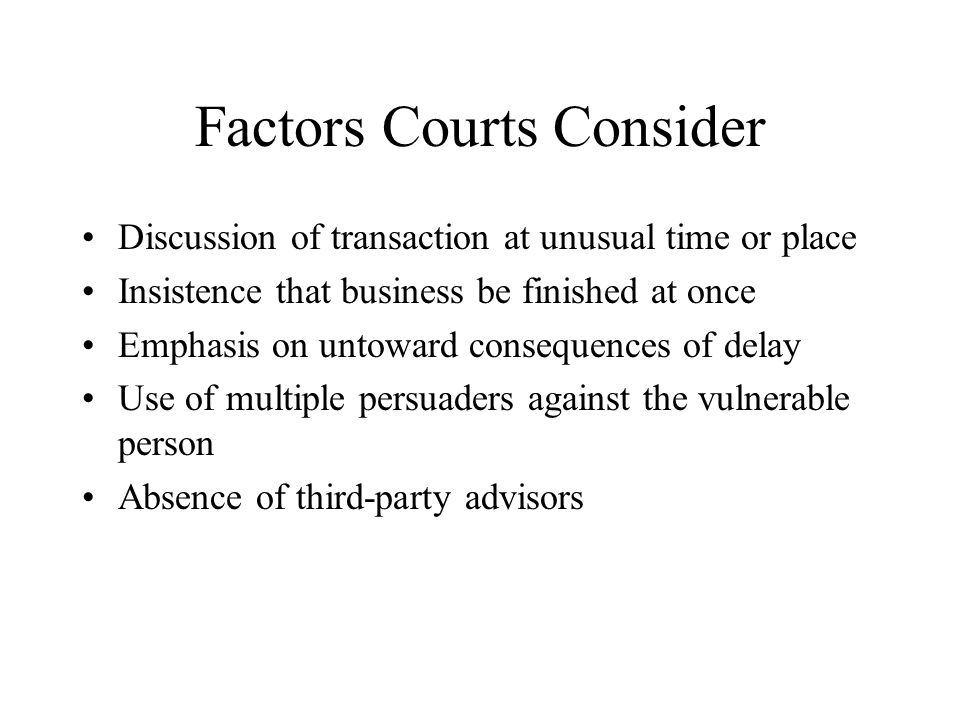 Factors Courts Consider