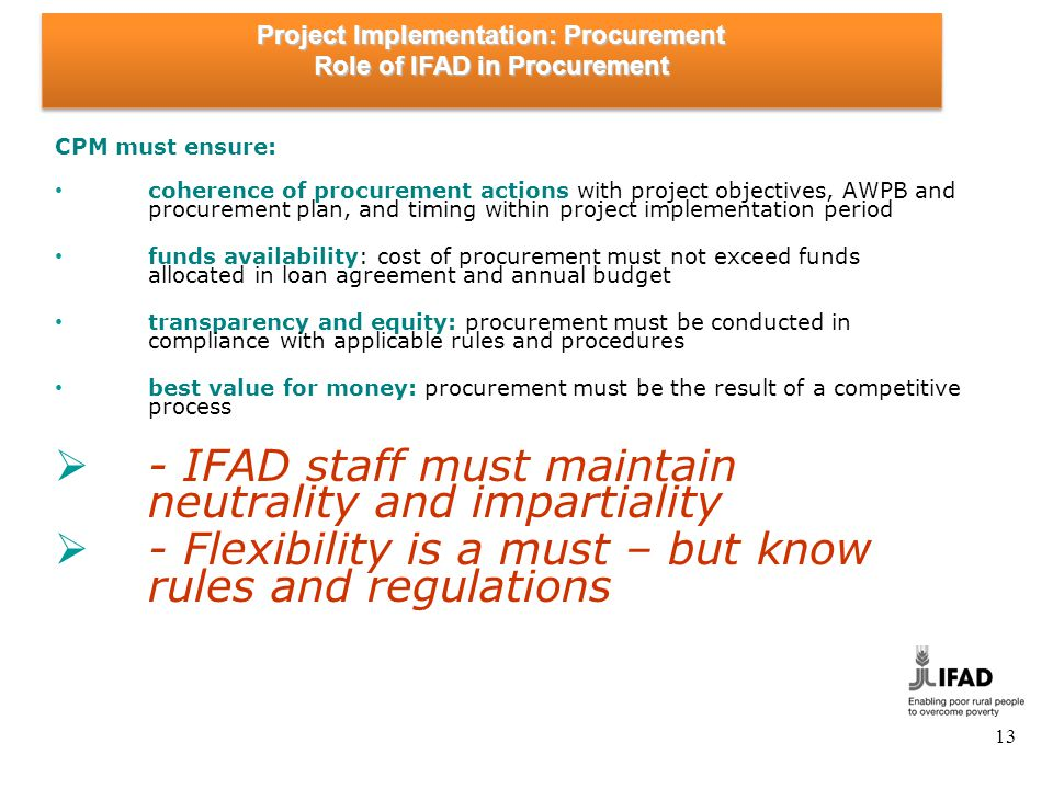 Project Implementation: Procurement