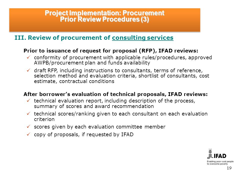 Project Implementation: Procurement Prior Review Procedures (4)