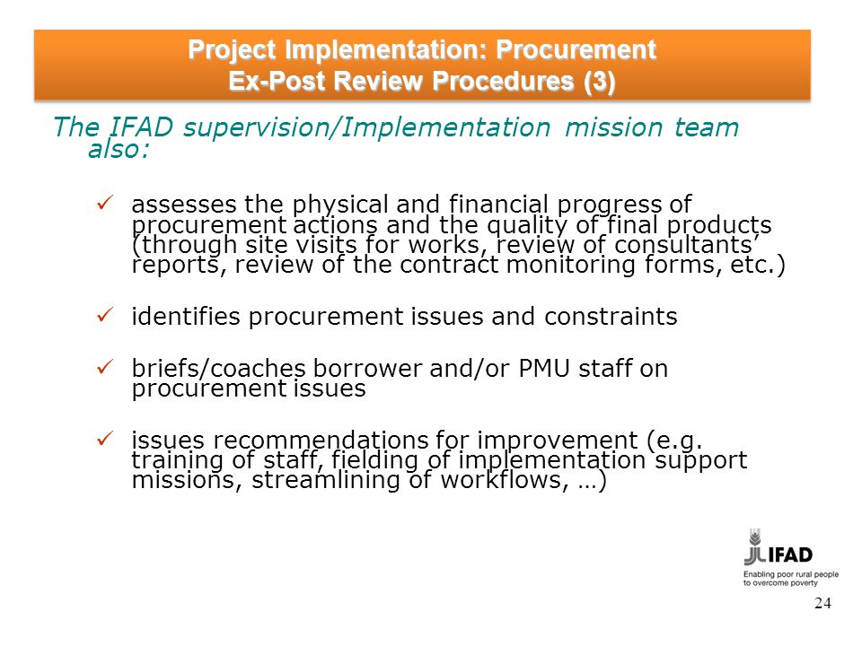 Project Implementation: Procurement How to avoid delays in procurement (1)