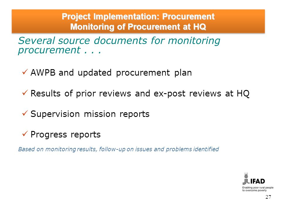 Project Implementation: Procurement Procurement in Project Completion Process