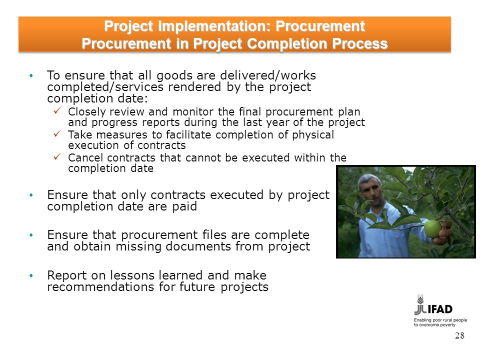 Project implementation: Contract Management