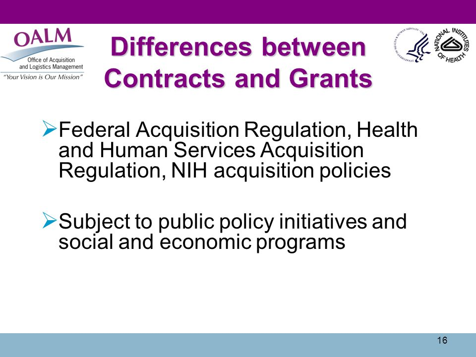 Differences between Contracts and Grants