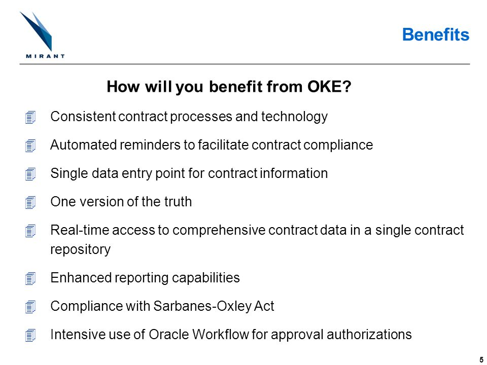 How will you benefit from OKE