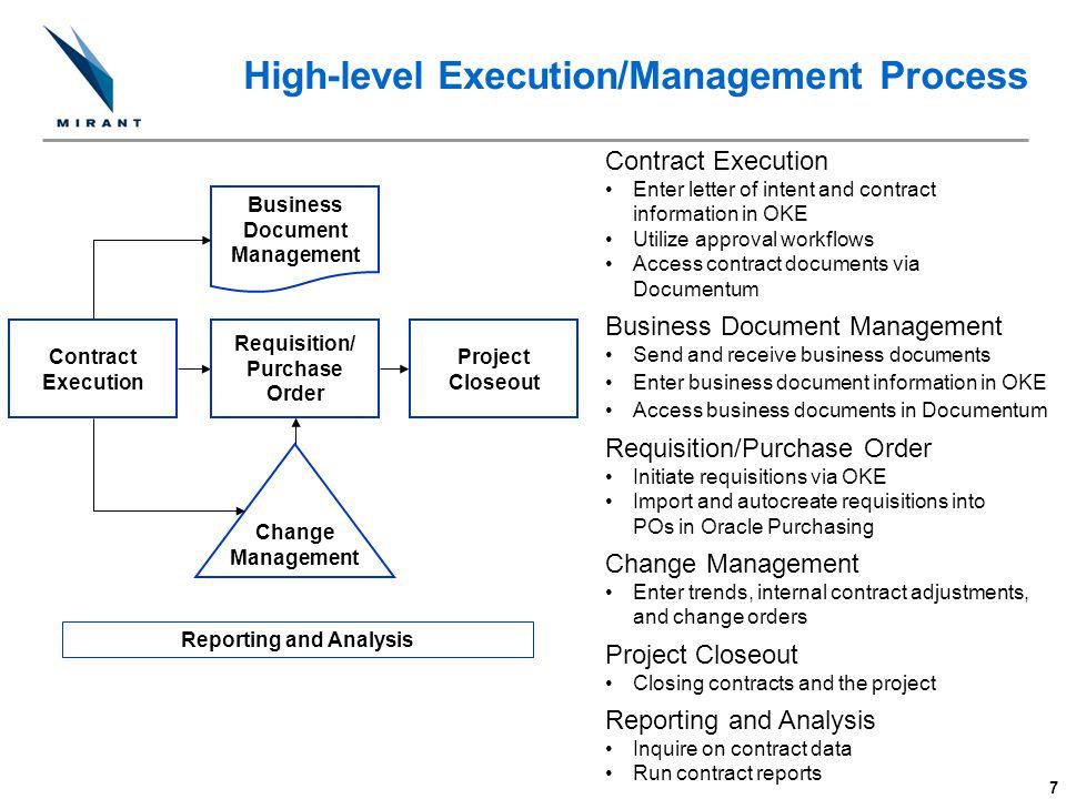 High-level Execution/Management Process