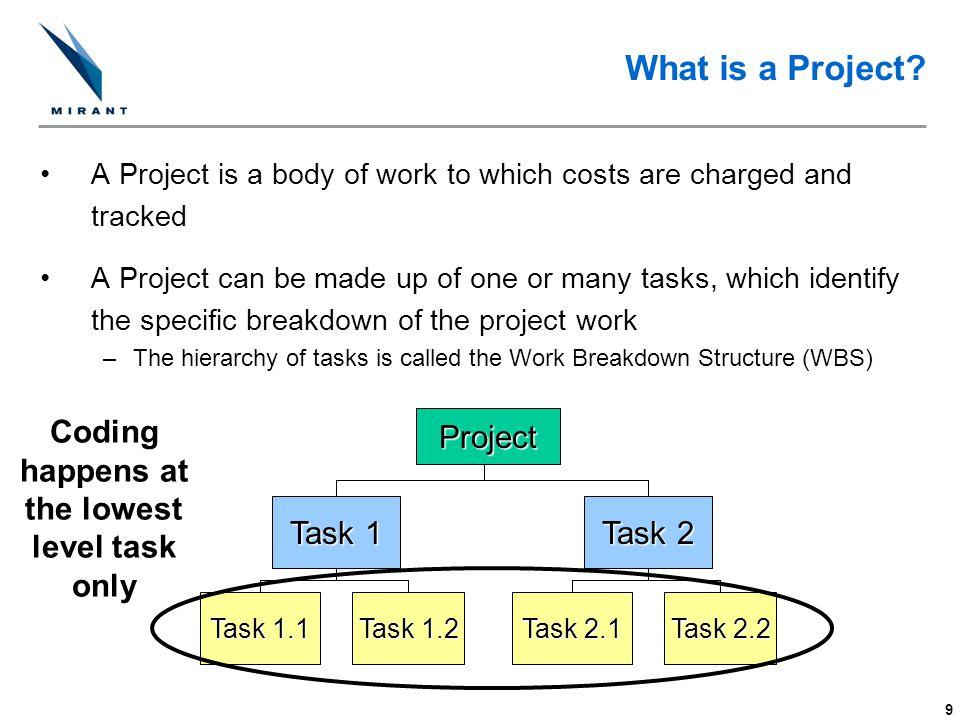 Coding happens at the lowest level task only