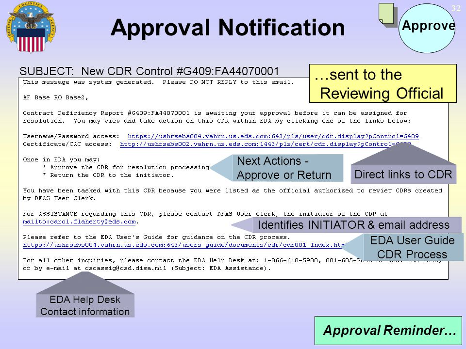 Approval Notification