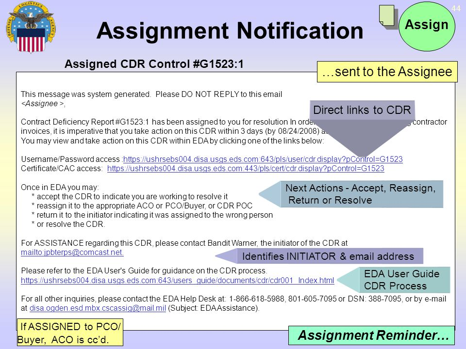 Assignment Notification