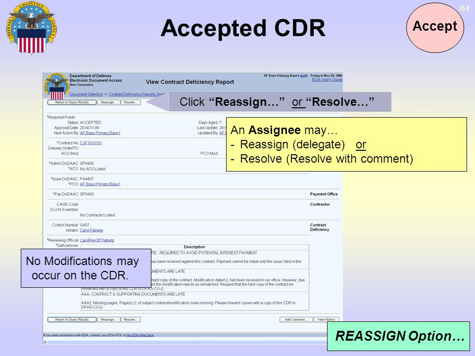 Click Reassign… or Resolve…