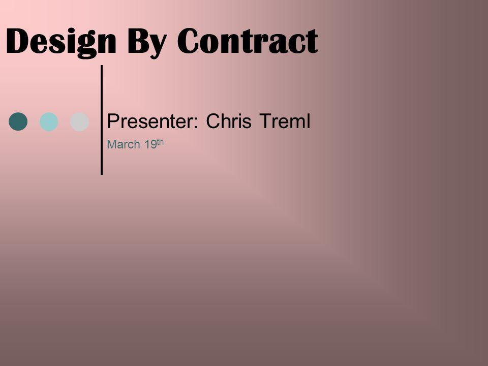 Presenter: Chris Treml