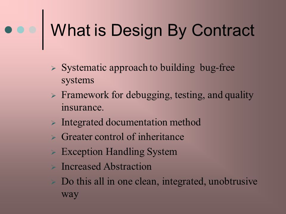 What is Design By Contract