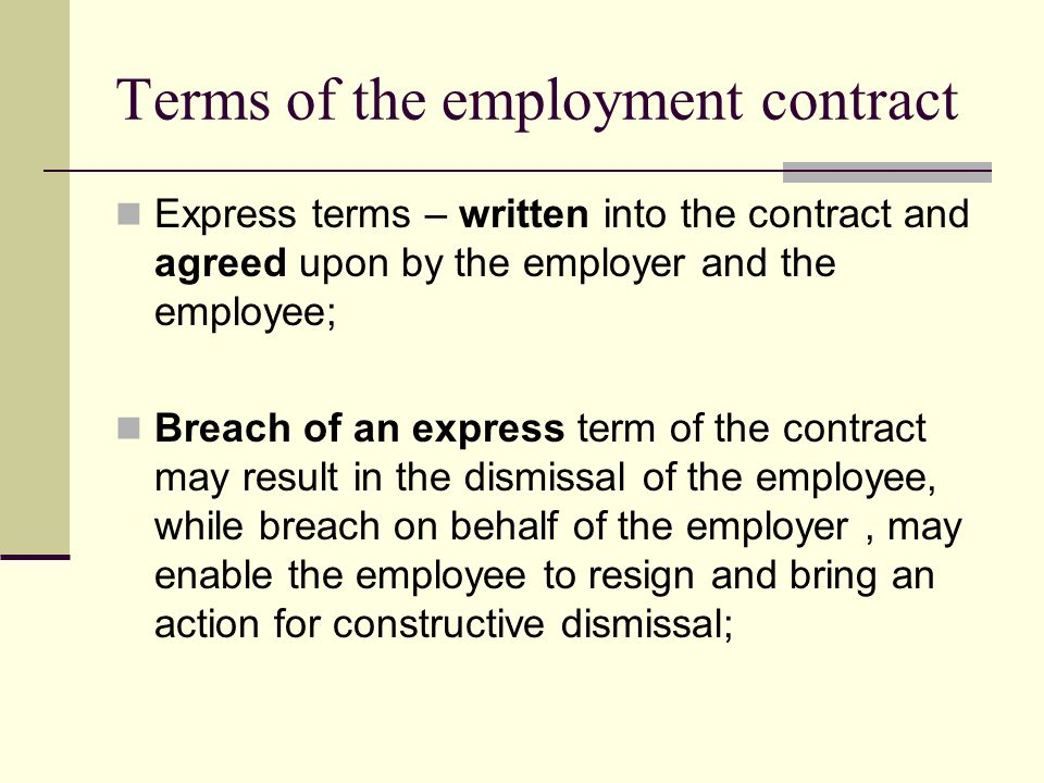 Contract And Employment Law  Ppt Video Online Download