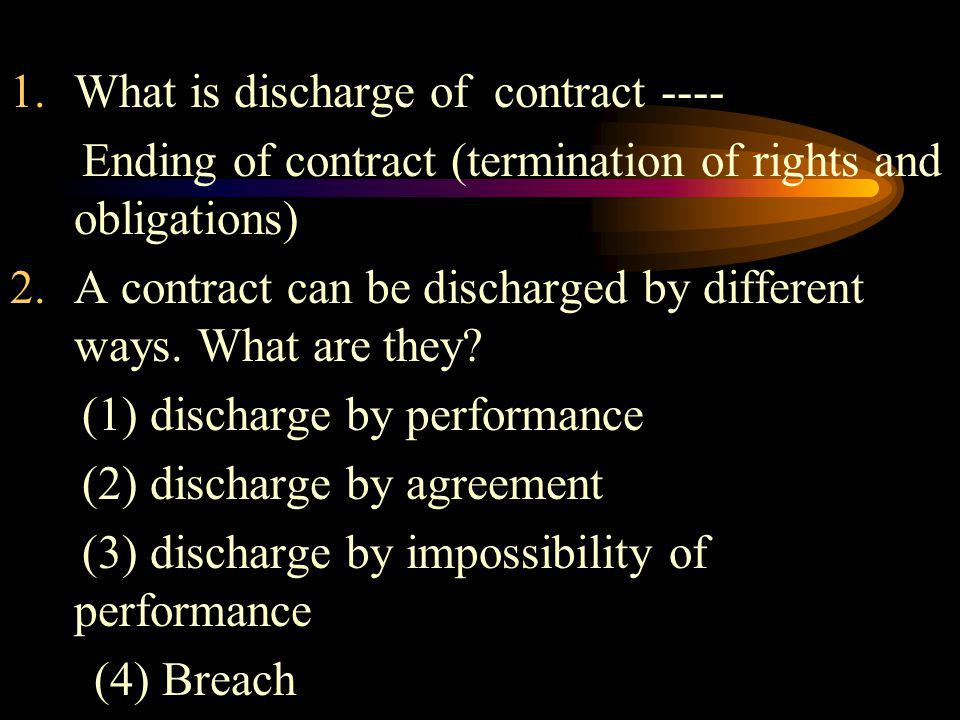 What is discharge of contract ----