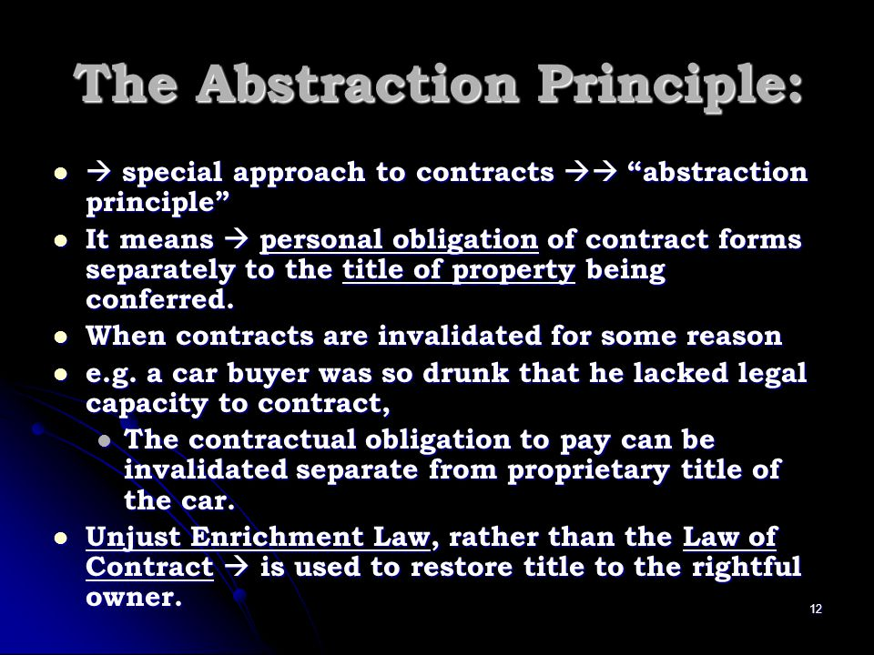 The Abstraction Principle: