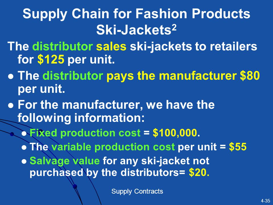 Supply Chain for Fashion Products Ski-Jackets2
