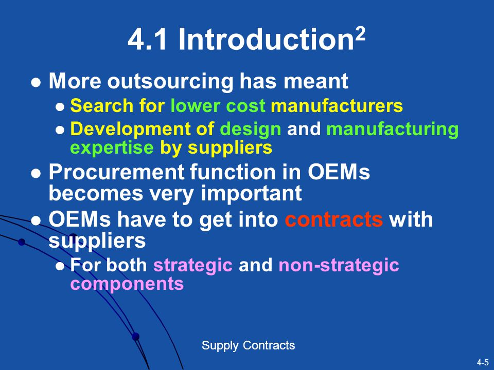4.1 Introduction2 More outsourcing has meant