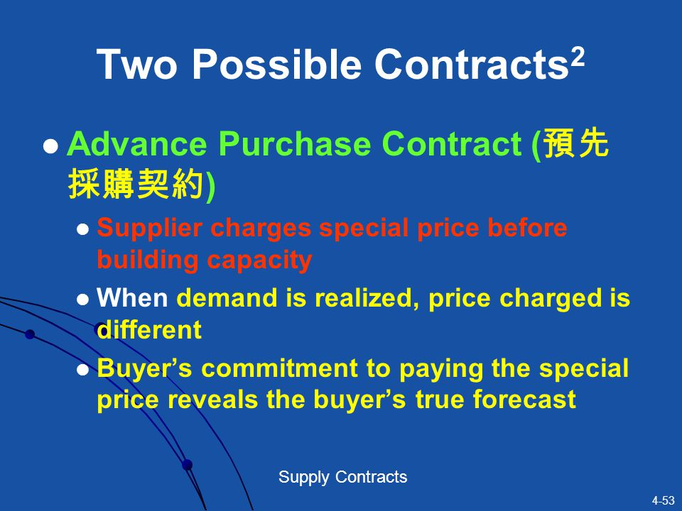 Two Possible Contracts2