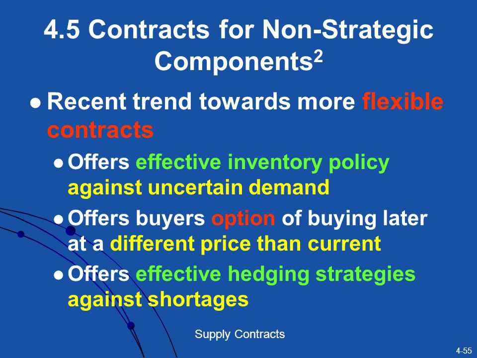 4.5 Contracts for Non-Strategic Components2