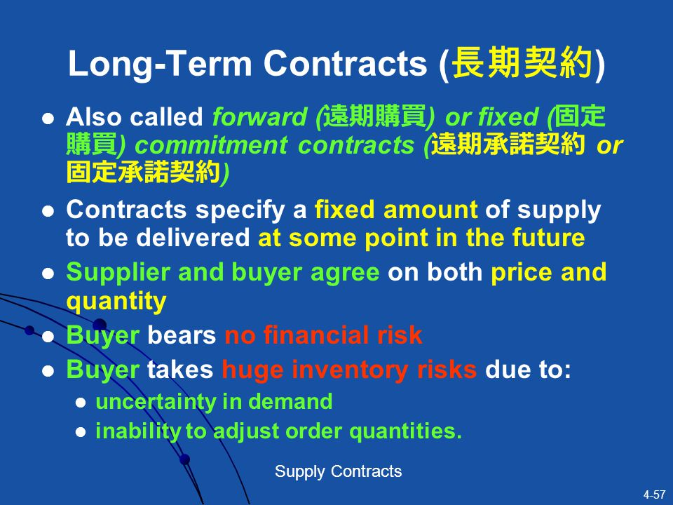 Long-Term Contracts (長期契約)