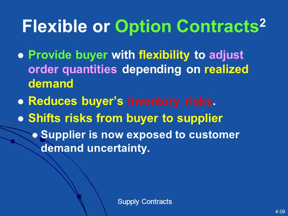 Flexible or Option Contracts2