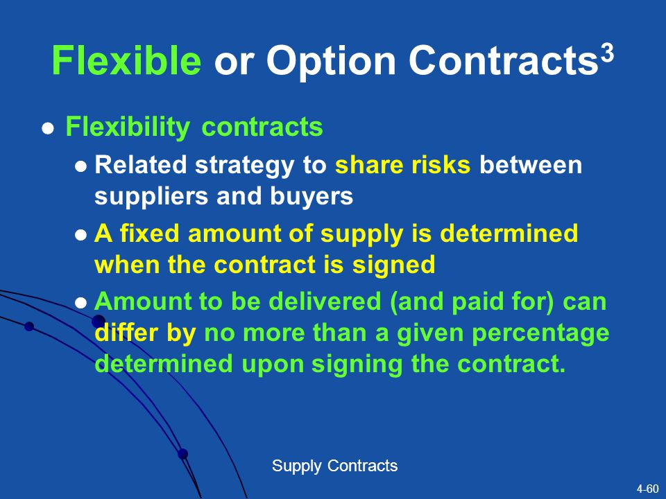 Flexible or Option Contracts3