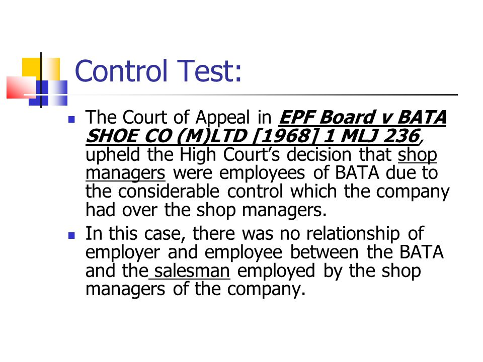 Control Test: