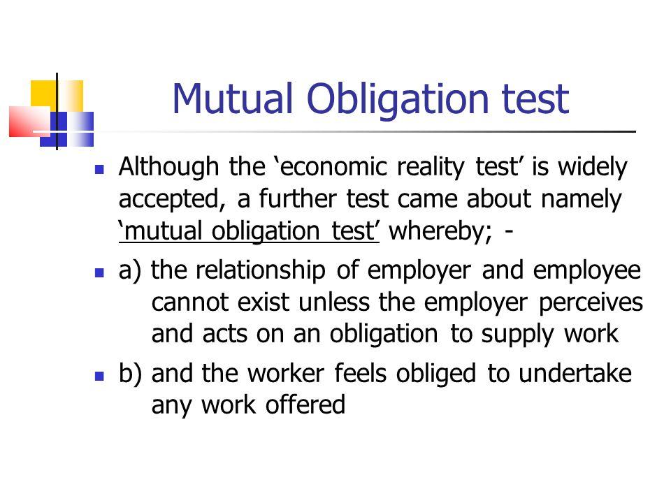 Mutual Obligation test