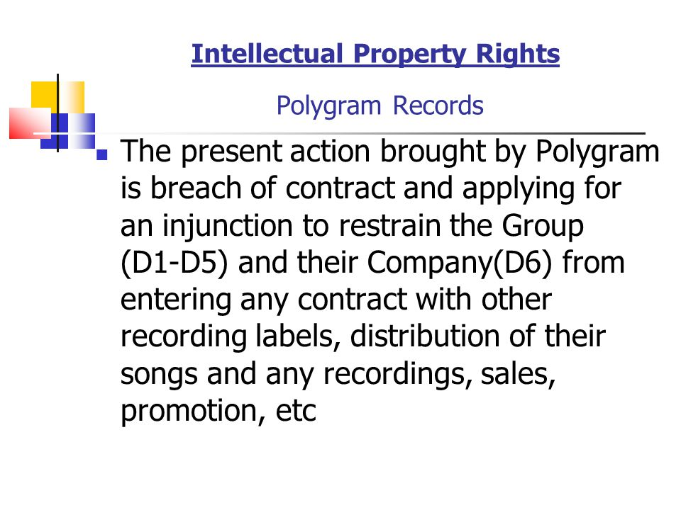 Intellectual Property Rights Polygram Records