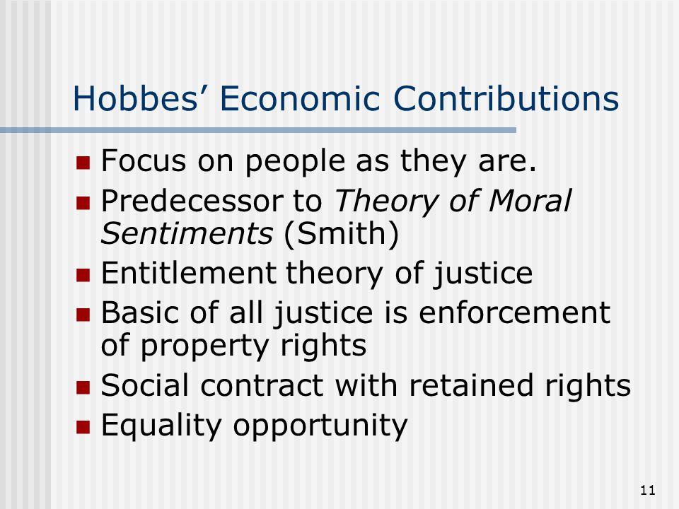 Hobbes' Economic Contributions