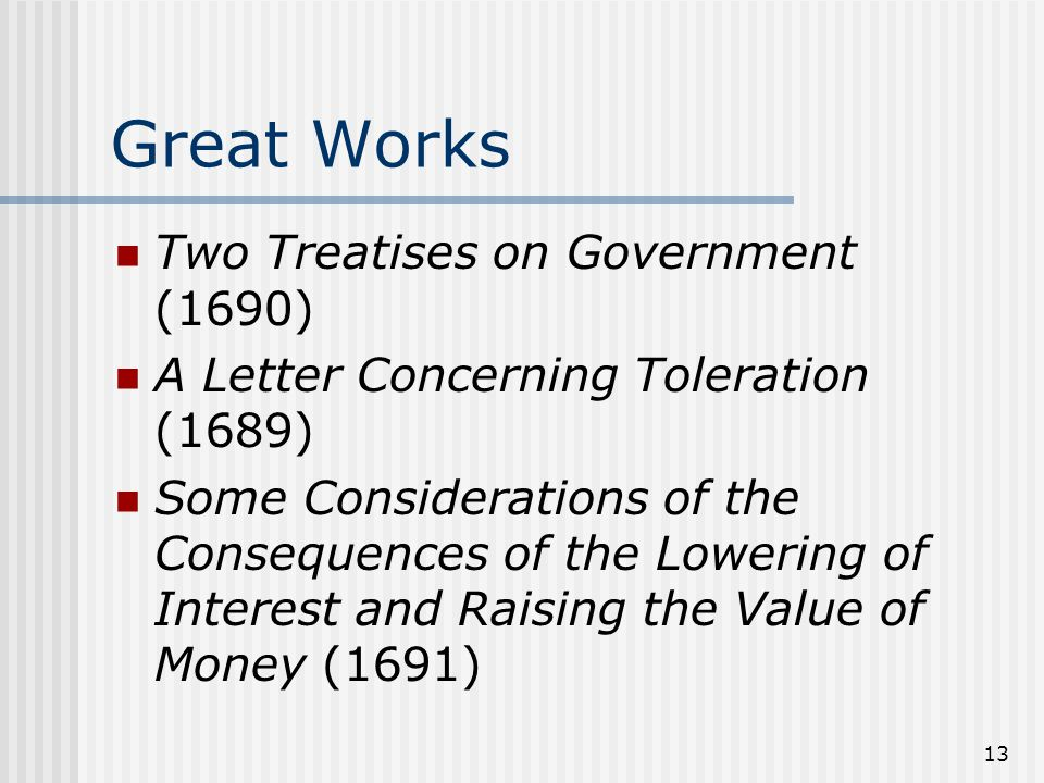 Great Works Two Treatises on Government (1690)