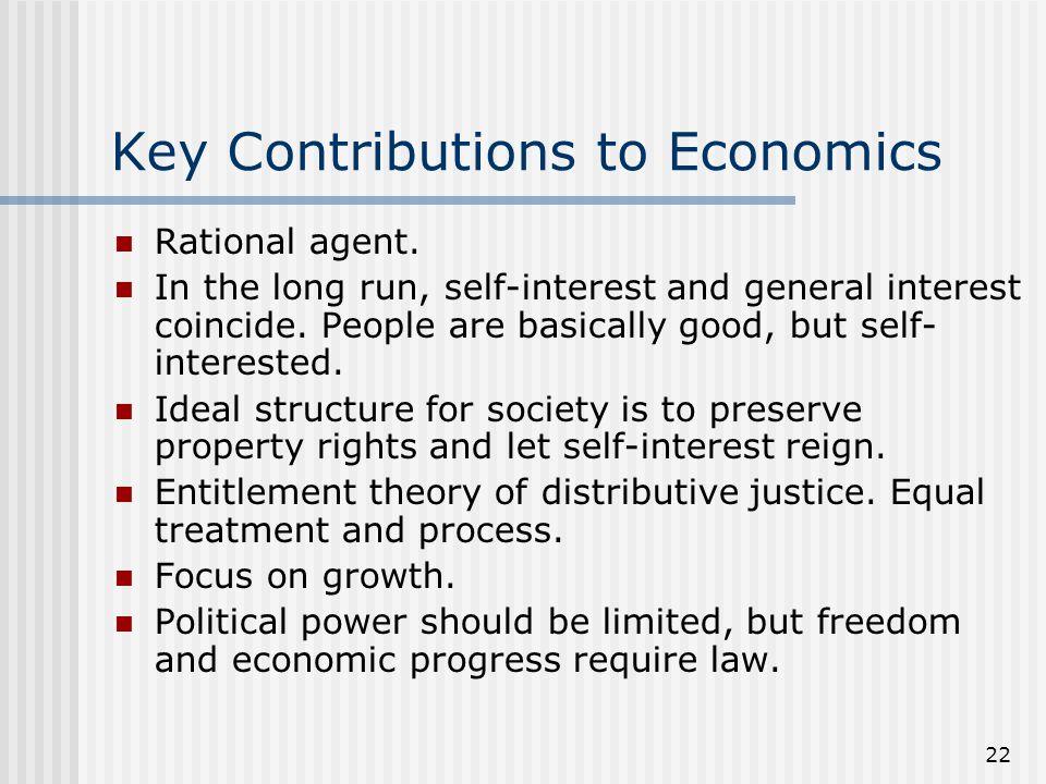 Key Contributions to Economics