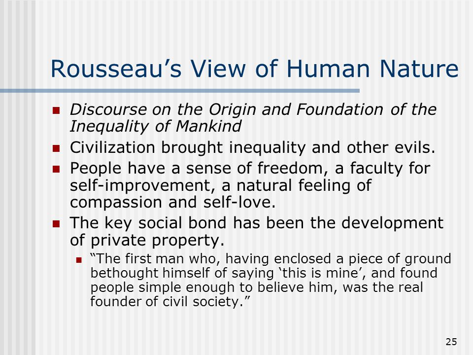 Rousseau's View of Human Nature