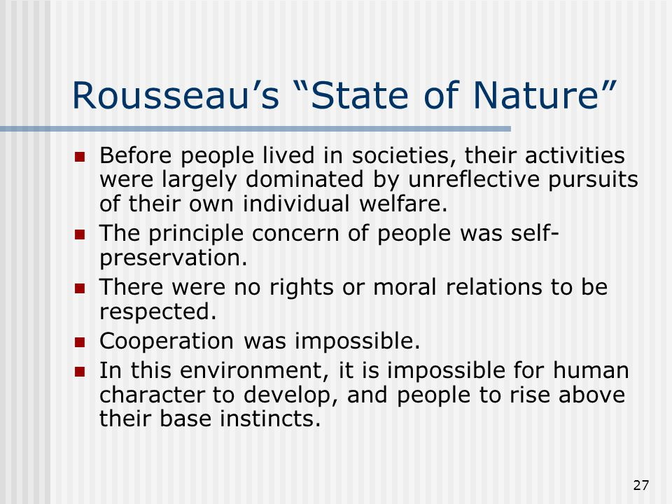 Rousseau's State of Nature