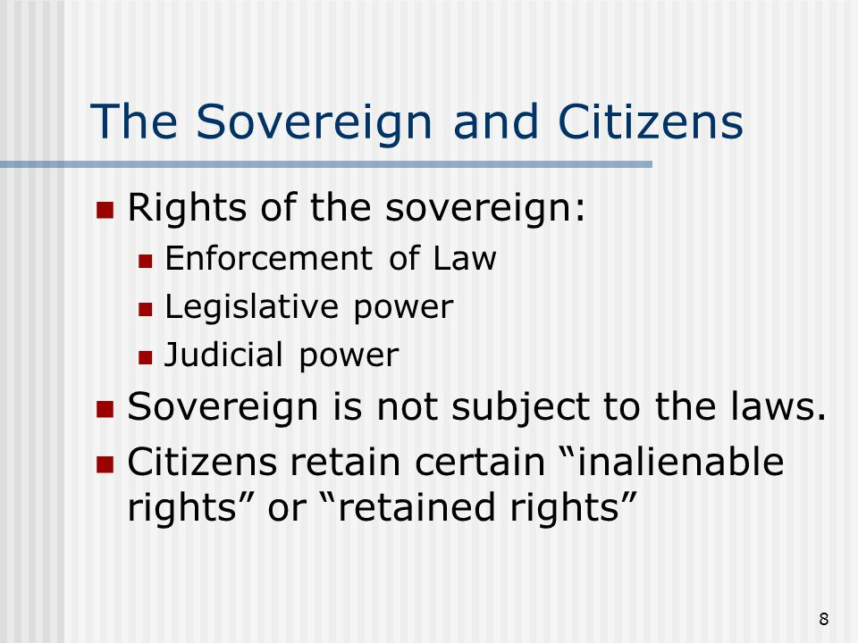 The Sovereign and Citizens