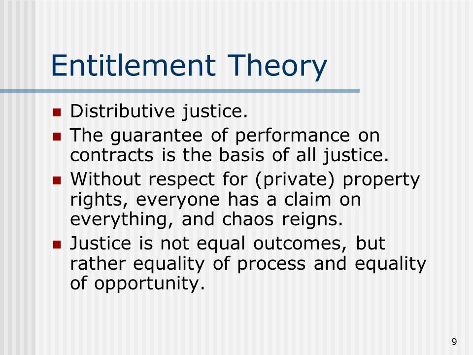 Entitlement Theory Distributive justice.