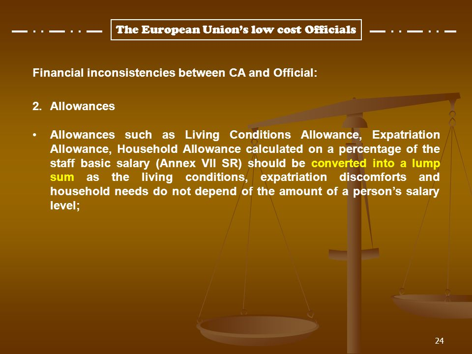 Financial inconsistencies between CA and Official: