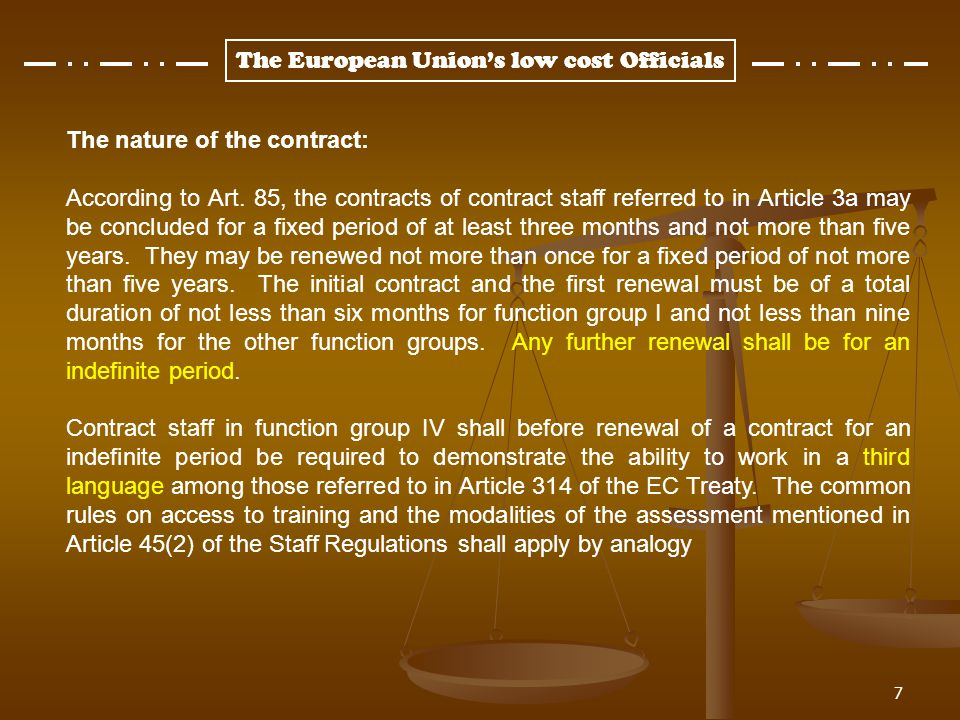 The nature of the contract: