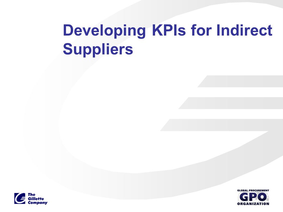 Developing KPIs for Indirect Suppliers