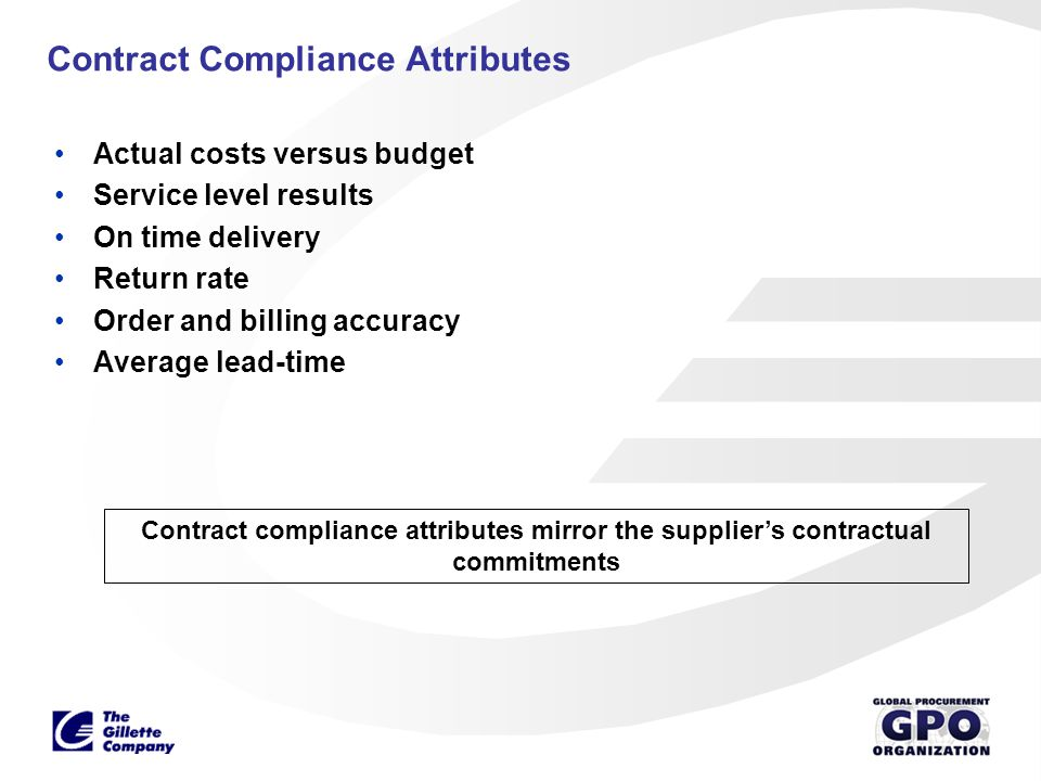 Contract Compliance Attributes