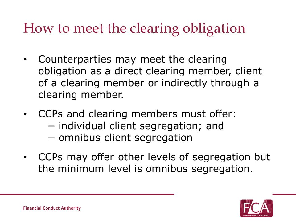How to meet the clearing obligation