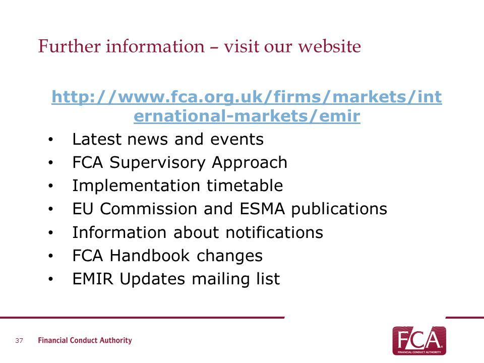 Further information – visit our website