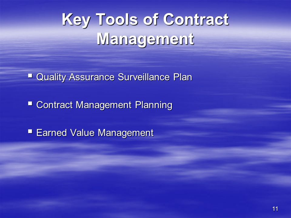 Key Tools of Contract Management