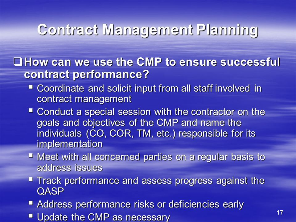 Effective Contract Management Planning - ppt download