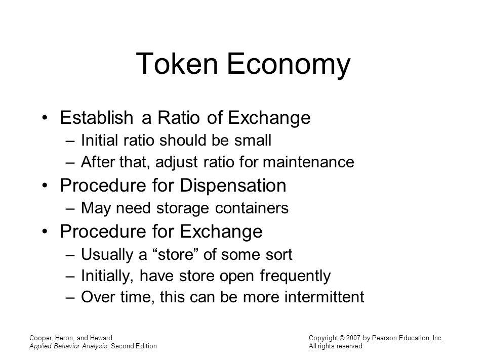 Token Economy Establish a Ratio of Exchange Procedure for Dispensation