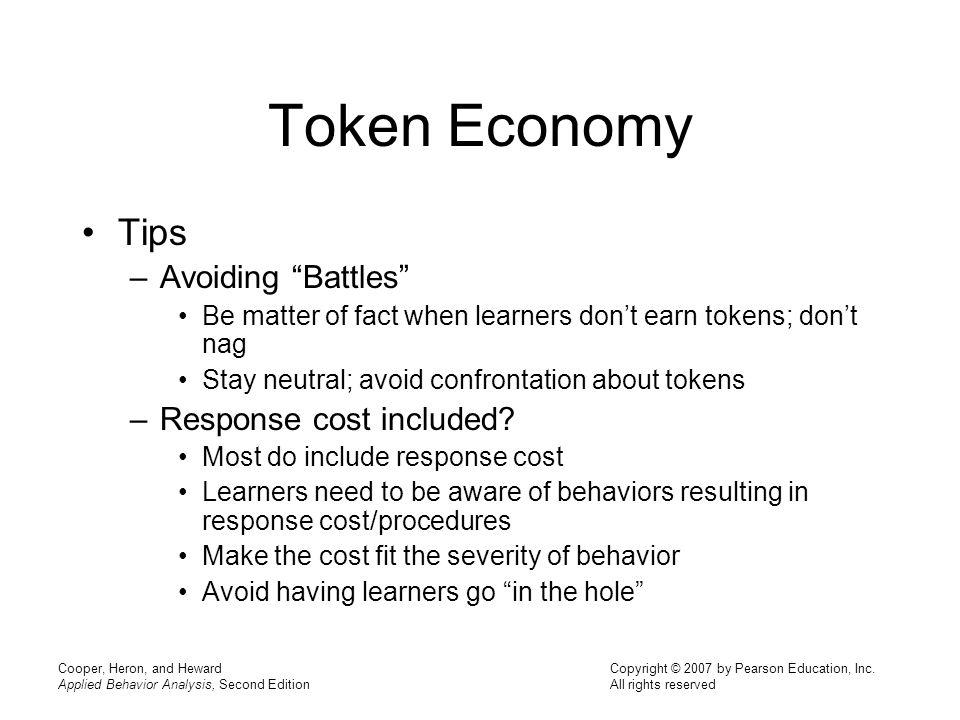 Token Economy Tips Avoiding Battles Response cost included