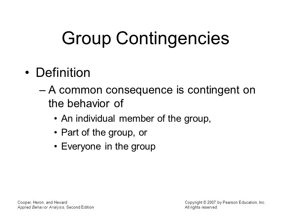 Group Contingencies Definition