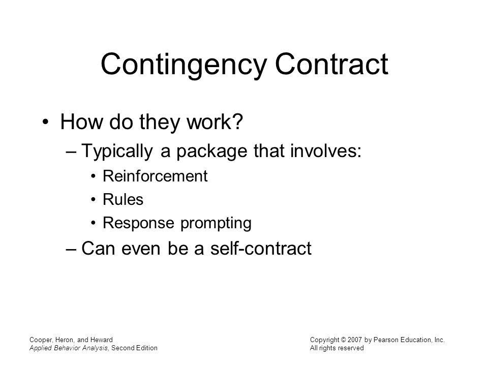 Contingency Contract How do they work