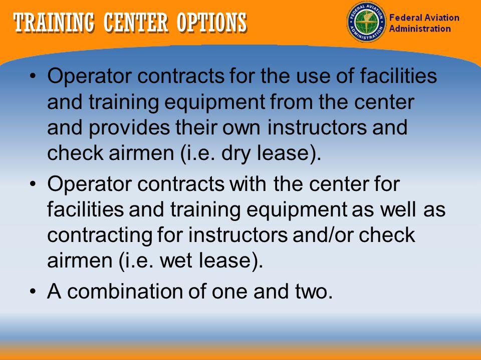 TRAINING CENTER OPTIONS