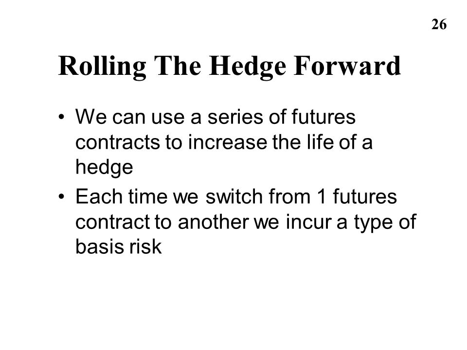 Rolling The Hedge Forward