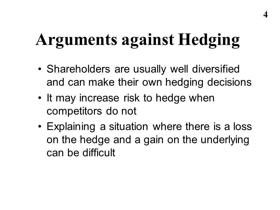 Arguments against Hedging